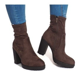 Suede Boots BG-59 Taupe