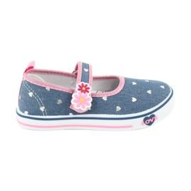 American Club marinblå Sneakers sneakers med kardborreband TEN15