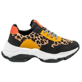 SHELOVET flerfärgad Färgrika Leopard Print Sneakers