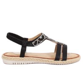 Sandaler espadrilles svart CO-78 Svart