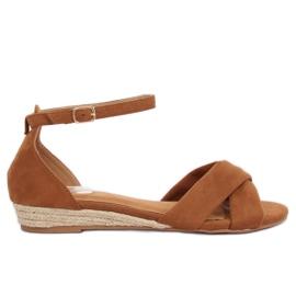 Sandaler espadrilles brunt 9R121 Camel