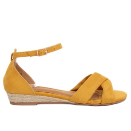 Sandaler espadrilles gul 9R121 Gul