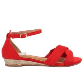 Sandaler espadrilles röd 9R121 Röd