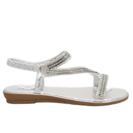 Grå Silver asymmetriska sandaler KM-33 Silver