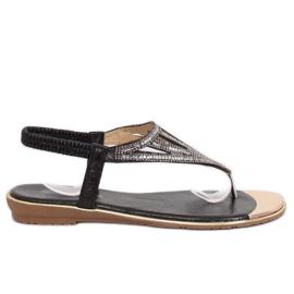 Svart M03 Svarta flip-flops