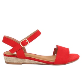 Sandaler espadrilles röd 9R73 Röd