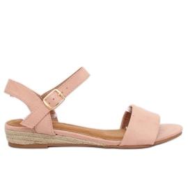 Sandaler espadrilles rosa 9R73 Rosa