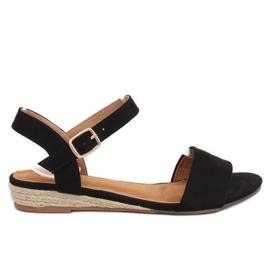 Sandaler espadrilles svart 9R73 Svart
