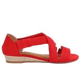 Sandaler espadrilles röd 9R72 Röd