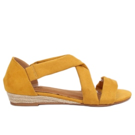 Sandaler espadrilles gul 9R72 Gul
