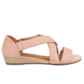 Sandaler espadrilles rosa 9R72 Rosa