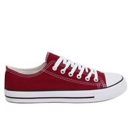 Röd Klassiska kvinnors maroon XL03 Vin sneakers