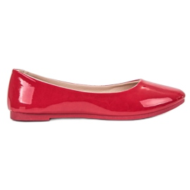 SHELOVET Lackerad Ballerina röd