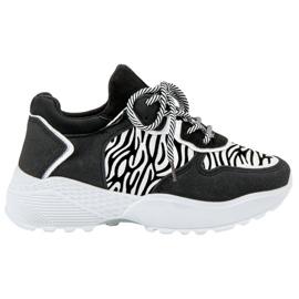 SHELOVET Snygga Sneakers Zebra Print