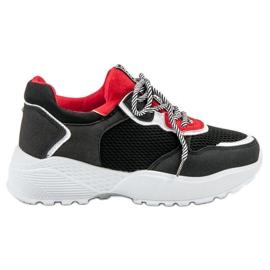 SHELOVET Fashionabla svarta sneakers