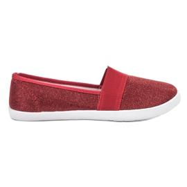 Renda röd Brocade Sneakers