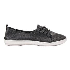 SHELOVET svart Sneakers med Eco Leather