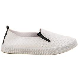 Kylie Vit Sneakers Slip On