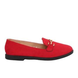 Kvinnor loafers röd 1631-127 Red