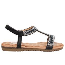 Svarta kvinnors sandaler HT-67 Black