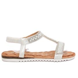 Sandaler kvinnor silver HT-67 Silver grå