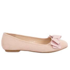 Brun Kvinnors lårfärgade ballerina skor 3173 Beige