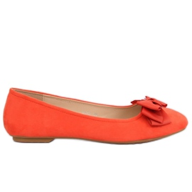 Orange kvinnors ballerina 3173 Orange apelsin