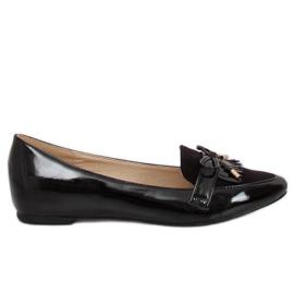 Kvinnors svarta loafers JL29 Black