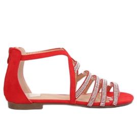 Kvinnors sandaler röd LL6339 Red