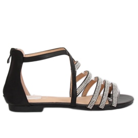 Svarta kvinnors sandaler LL6339 Svart