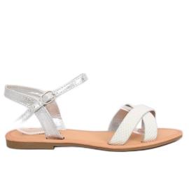 Grå Kvinnors silver sandaler WL282 Silver