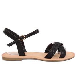 Svarta och svarta kvinnors sandaler WL282 Svart