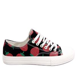 Svart Sneakers Strawberry Black XL-21 Black