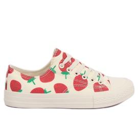 Brun Strawberry beige sneakers XL-21 Beige