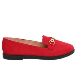 Kvinnor loafers röd 1631-123 Red