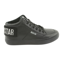 High Black Sneakers Big Star 274351 svart