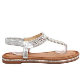 Sandaler silver ZY163 Silver grå