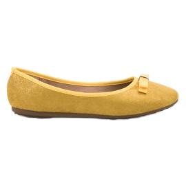 GUAPISSIMA gul Ballerina med brokade