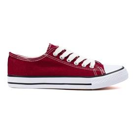 SHELOVET Bourgogne sneakers röd