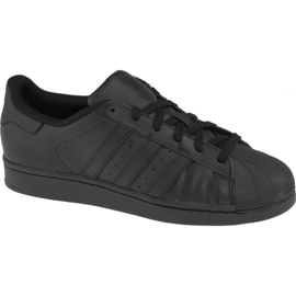 Svart Adidas Superstar J Foundation Jr B25724 skor