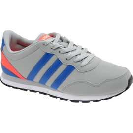 Grå Adidas V Jog K Jr AW4147 skor