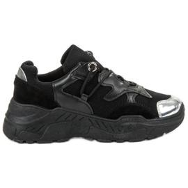 Small Swan Snörning sneakers svart