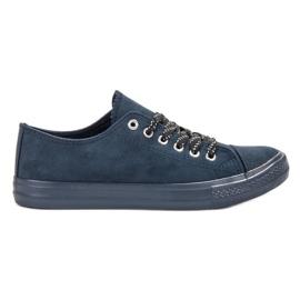 McKey Bekväma marinblå sneakers