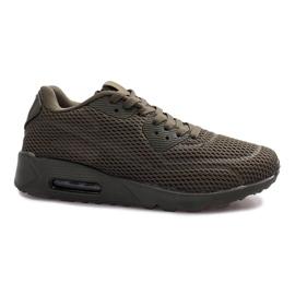 Green Mesh Sports Shoes