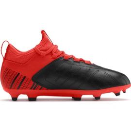 Fotbollsskor Puma One 5.3 Fg Ag JR105657 01 röd svart