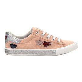 Kylie apelsin Sneakers med Brocade