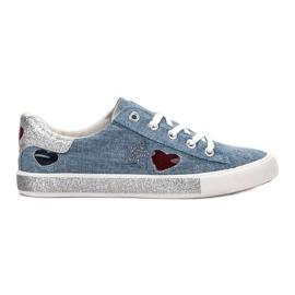 Kylie blå Sneakers med Brocade