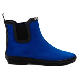 Kylie blå Suede Leather Wellies