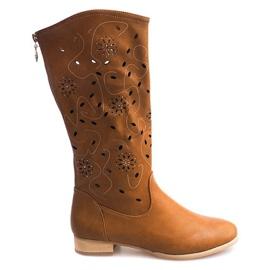 Brun Openwork Boots TLT1301 Camel