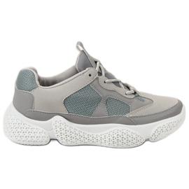 SHELOVET Fashionable Grey Sneakers grå